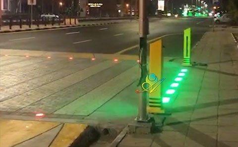 智慧斑马线地砖红绿灯3